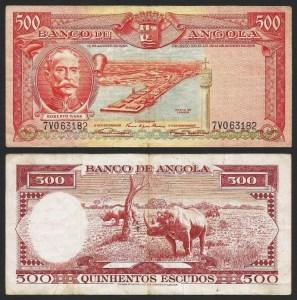 ANGOLA (22) - 500 ESCUDOS 'Roberto Ivens' (1956) CIRC… Rara 1