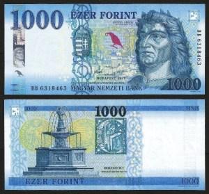 HUNGRIA .nv1 (HUNGARY) - 1.000 FORINT (2017) NOVA