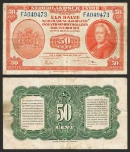 ÍNDIAS HOLANDESAS .n110 (NETHERLANDS INDIES) - 50 CENT (1943) CIRC… Esc.