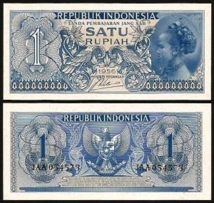 INDONÉSIA .n074 - 1 RUPIA (1956) NOVA