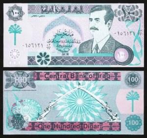 IRAQUE .n76 (IRAQ) - 100 DINARES 'Saddam' (1991) NOVA…Rara
