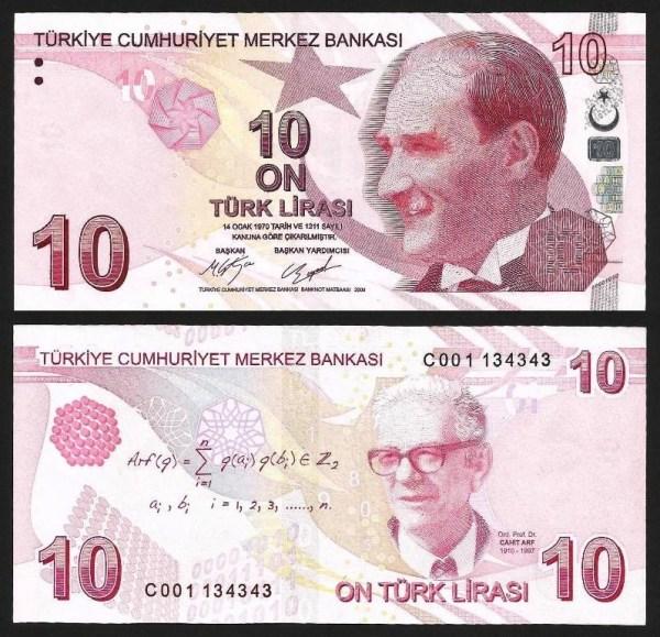 TURQUIA .n223c (TURKEY) - 10 LIRAS (2009-) NOVA