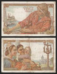 FRANÇA .n100 (FRANCE) - 20 FRANCOS (07.10.1943) CIRC.