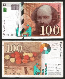 FRANÇA .n158 (FRANCE) - 100 FRANCOS 'Paul Cézanne' (1998) CIRC.