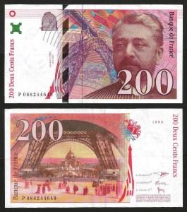 FRANÇA .n159c (FRANCE) - 200 FRANCOS 'Gustave Eiffel' (1999) BELA