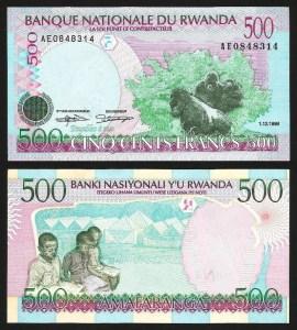 RUANDA .n26 (RWANDA) - 500 FRANCOS (1998) NOVA… Esc.