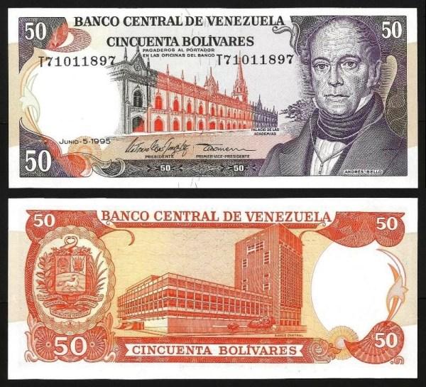 VENEZUELA .n65e - 50 BOLÍVARES (1995) NOVA