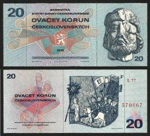 CHECOSLOVÁQUIA .n92 (CZECHOSLOVAKIA) - 20 KORUN (1970) QNOVA…Esc.