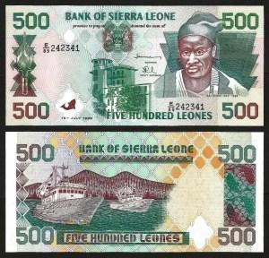SERRA LEOA .n23b (SIERRA LEONE) - 500 LEONES (1998) NOVA
