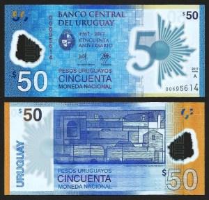 URUGUAI .nv1 (URUGUAY) - 50 PESOS CMM (2017) NOVA