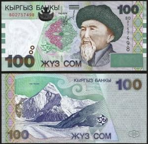 QUIRGUISTÃO .n21 (KYRGYZSTAN) - 100 SOM (2002) NOVA
