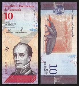 VENEZUELA .103a - 10 BOLÍVARES 'Soberanos' (15.01.2018) NOVA