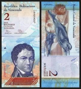 VENEZUELA .n88d - 2 Bolívares (31.01.2012) NOVA