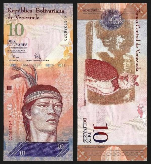 VENEZUELA .n90b - 10 BOLÍVARES (03.09.2009) NOVA