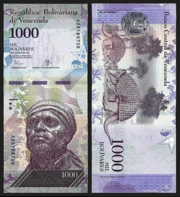 VENEZUELA .n95a - 1.000 BOLÍVARES (18.08.2016) NOVA