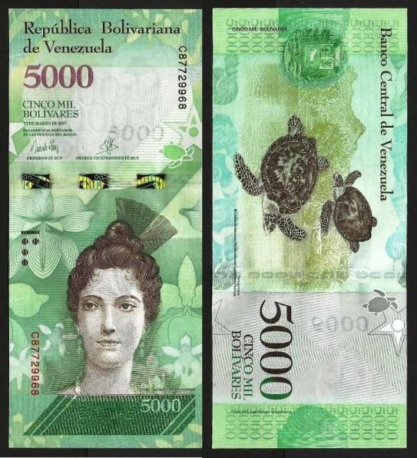 VENEZUELA .n97b - 5.000 BOLÍVARES (23.03.2017) NOVA