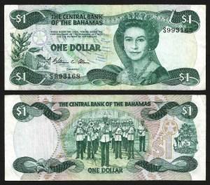 BAHAMAS .n43a - 1 DOLLAR (1984) CIRC... Dif