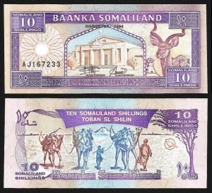 SOMALILÂNDIA .n02a (SOMALILAND) - 10 SHILLINGS (1994) NOVA