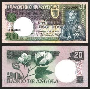 ANGOLA (11) - 20 ESCUDOS 'Luís Camões' (1973) NOVA… Esc.