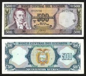EQUADOR .n124A 1 (ECUADOR) - 500 SUCRES (08.06.1988) BELA