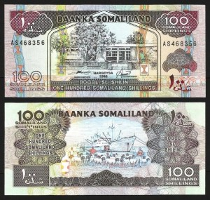 SOMALILÂNDIA .n05b (SOMALILAND) - 100 SHILLINGS (1996) NOVA