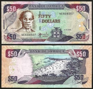 JAMAICA .n83e - 50 Dollars (2008) NOVA