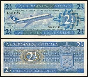 ANTILHAS HOLANDESAS .n21 (NETHERLANDS ANTILLES) - 2 1/2 Gulden (1970) NOVA… Esc.