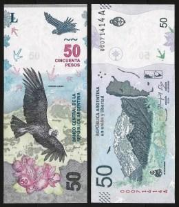 ARGENTINA .n363 - 50 PESOS «condor» (2018) NOVA