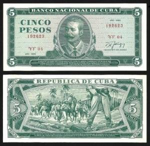 CUBA .n103d - 5 PESOS 'Antonio Maceo' (1990) NOVA… Esc.