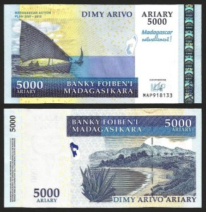 MADAGÁSCAR .n094a - 5.000 ARIARY (2008) NOVA