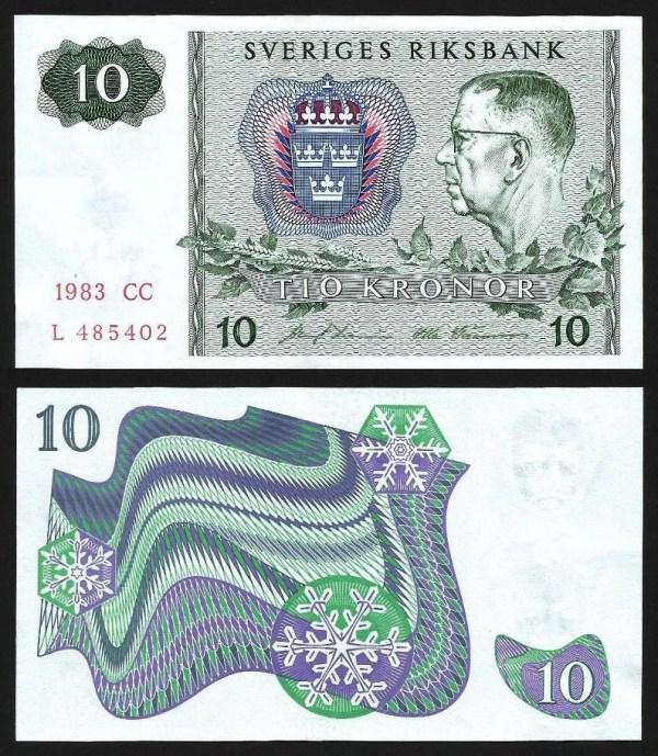 SUÉCIA .n52e (SWEDEN) - 10 KRONOR (1983) NOVA