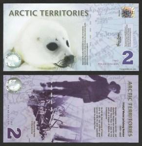 ÁRCTICO .n02 (ARCTIC TERRITORIES) - 2 DOLLARS (2010) NOVA