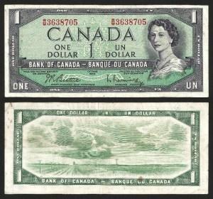 CANADÁ .n074b - 1 DOLLAR (1954) CIRC… Esc.