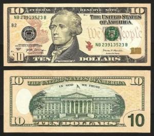 ESTADOS UNIDOS AMÉRICA .nv1 (U.S.A.) - 10 DOLLARS 'Álex. Hamilton' (2017) NOVA