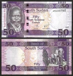 SUDÃO DO SUL .n14c (SOUTH SUDAN) - 50 LIBRAS (2017) NOVA