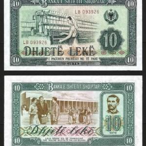 ALBÂNIA .n43 (ALBANIA) - 10 LEKE (1976) NOVA
