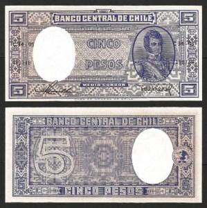 CHILE .n119 - 5 PESOS = 1/2 CONDOR (1958/9) NOVA… Esc.