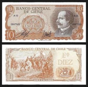 CHILE .n143 - 10 ESCUDOS (1967-) NOVA