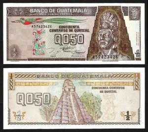 GUATEMALA .n086b - 1/2 QUETZAL (27.09.1994) NOVA