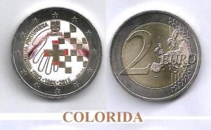 (K1371) MOEDA CC - 2,00 EURO '150A da Cruz Vermelha Portuguesa' (2015) Bimetálica Coloridaa) 1