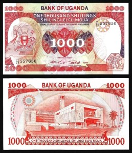 UGANDA .n26 - 1.000 SHILLINGS (1986) NOVA