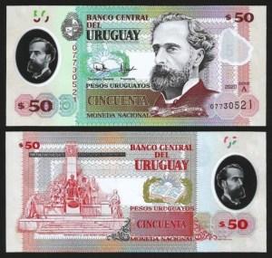 URUGUAI .nv2 (URUGUAY) - 50 PESOS (2020) NOVA