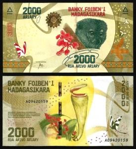 MADAGÁSCAR .n101 - 2.000 ARIARY (2017) NOVA