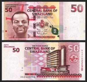 SUAZILÂNDIA .n38a (SWAZILAND) - 50 EMALANGENI (2010) NOVA