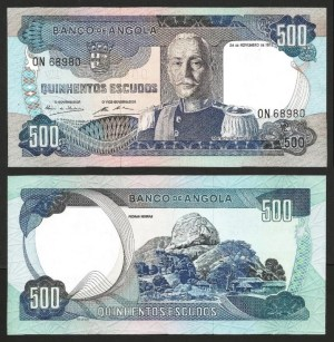 ANGOLA (25)3 - 500 ESCUDOS 'Mar. Carmona' (1972) NOVA… Esc.