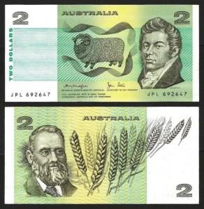 AUSTRÁLIA .n43c - 2 DOLLARS (1974/85) NOVA… Esc. 1