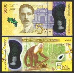 COSTA RICA .n281 - 5.000 COLONES (2018) NOVA