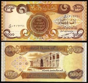 IRAQUE .n93a (IRAQ) - 1.000 DINARES (2003) NOVA