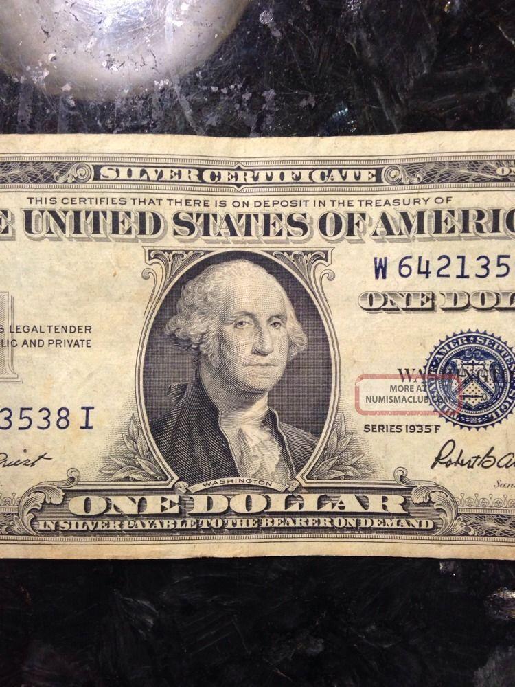 One Dollar Silver Certificate Blue