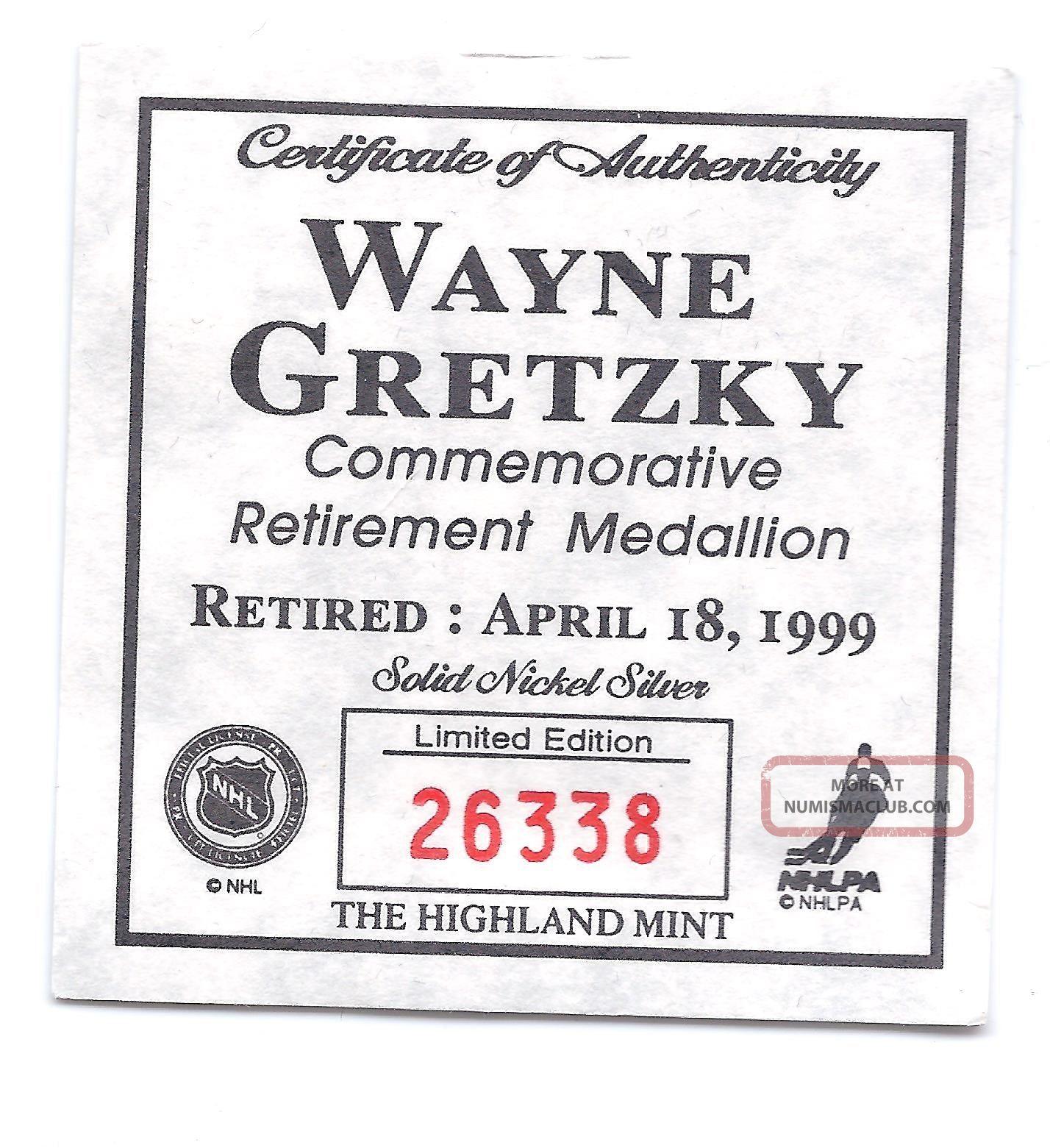 Oilers Kings Rangers Blues Wayne Gretzky Commemorative